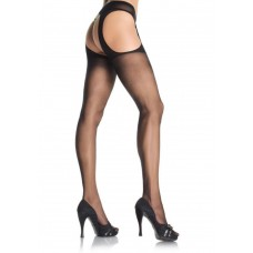 LEG AVENUE BLACK STOCKINGS