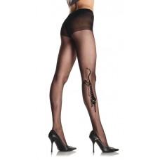 LEG AVENUE STOCKING BLACK O/S