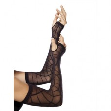 LEG AVENUE - SHEER SPIDERWEB WARMER O/S BLACK